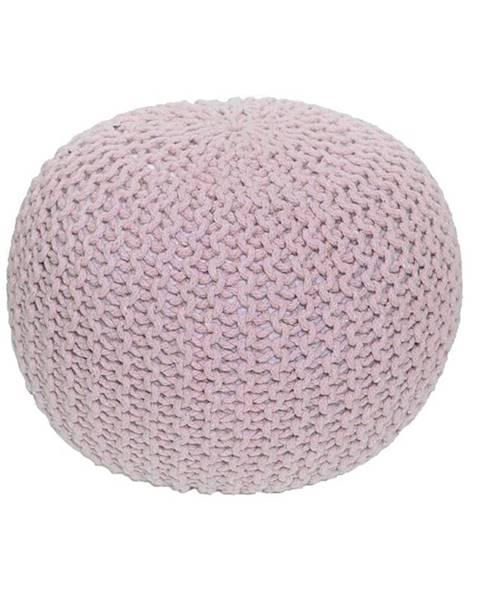 Kondela Pletený taburet púdrová ružová bavlna GOBI TYP 1