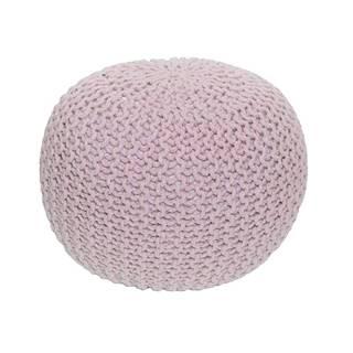 Pletený taburet púdrová ružová bavlna GOBI TYP 1