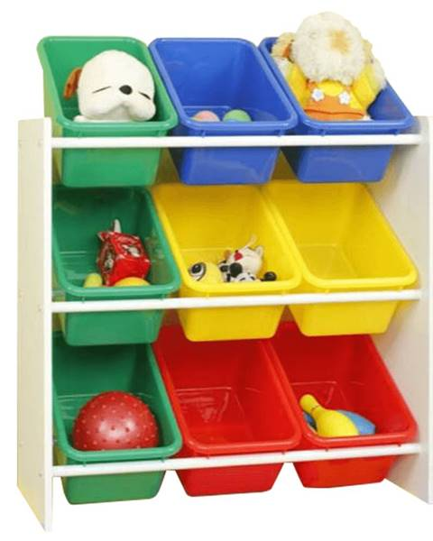 Kondela Organizér na hračky viacfarebná/biela KIDO TYP 2