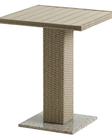 Záhradný jedálenský stôl prírodná ratan/žula/Artwood THY