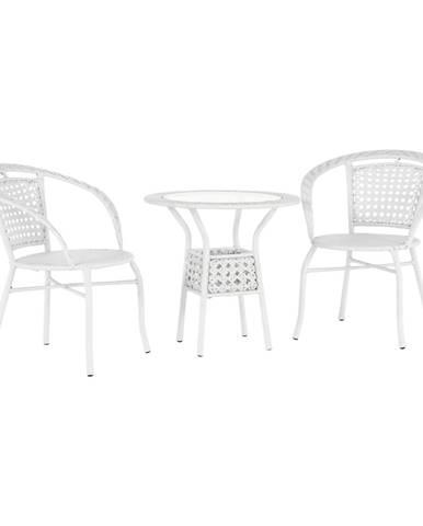 Záhradný ratanový set 1+2 biela JENAR