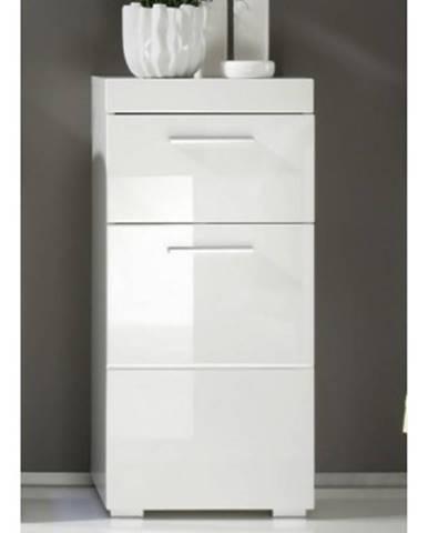 Kúpeľňová stojacia skrinka Amanda 802, lesklá biela%