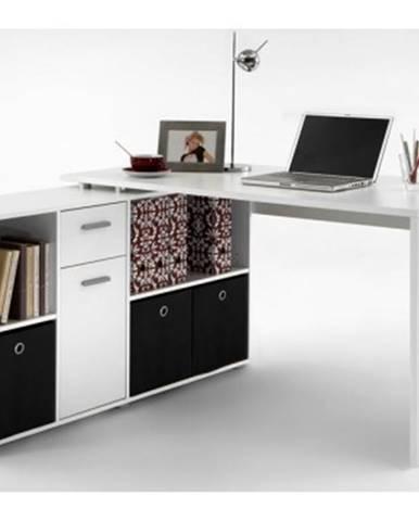 Písací stôl s regálom Lex, biely%
