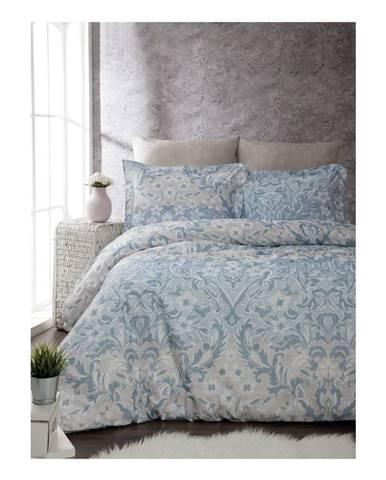 Obliečky s plachtou z ranforce bavlny na dvojlôžko Floral, 200 x 220 cm