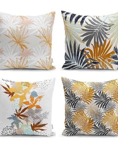 Minimalist Cushion Covers Súprava 4 dekoratívnych obliečok na vankúše Minimalist Cushion Covers Autumn Leaves, 45 x 45 cm