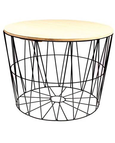 Odkladací stolík REA 40 cm, čierna