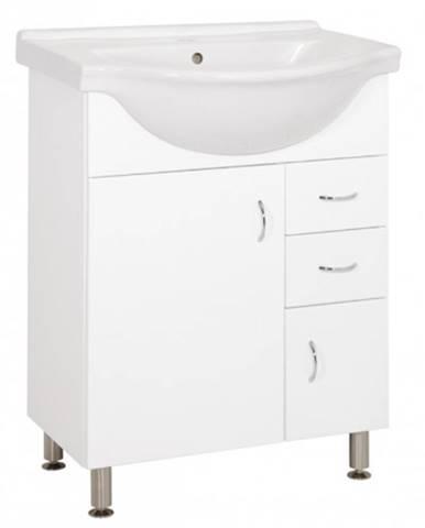 Kúpeľňová skrinka s umývadlom Cara Mia 65,8x85x51,4cm,biela,lesk