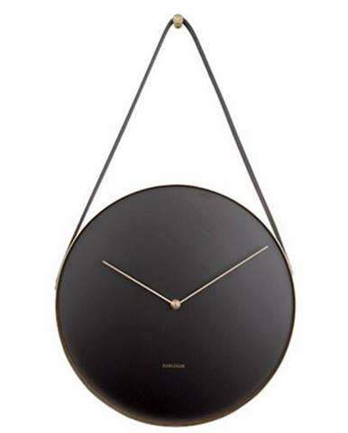 Karlsson 5767BK dizajnové nástenné hodiny, pr. 34 cm