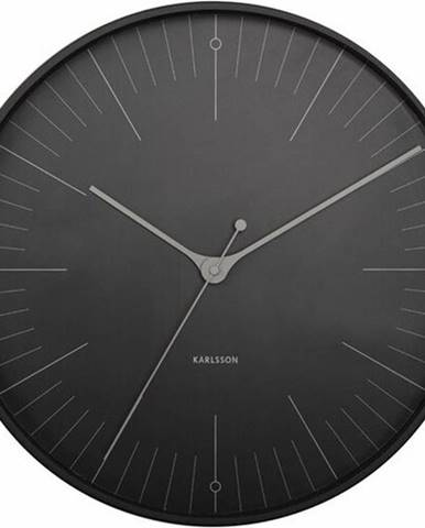 Karlsson 5769BK dizajnové nástenné hodiny, pr. 40 cm