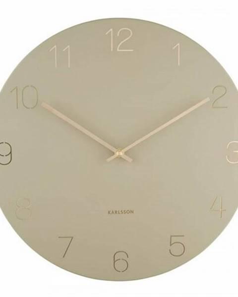 Karlsson Karlsson 5762OG dizajnové nástenné hodiny, pr. 40 cm