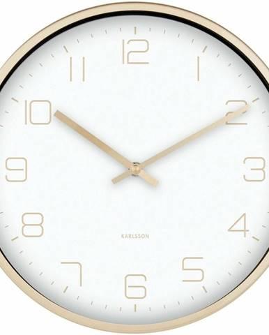 Karlsson 5720WH dizajnové nástenné hodiny, pr. 30 cm