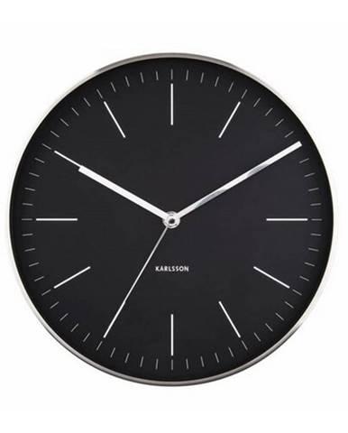 Karlsson 5732BK dizajnové nástenné hodiny, pr. 28 cm