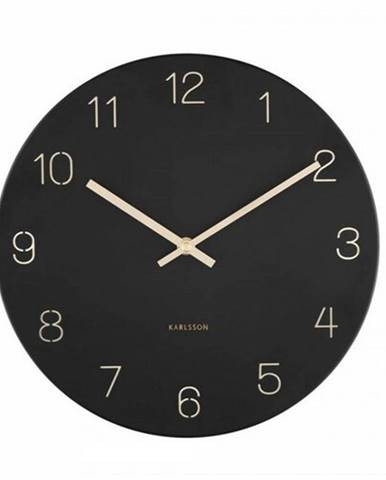 Karlsson 5788BK dizajnové nástenné hodiny, pr. 30 cm