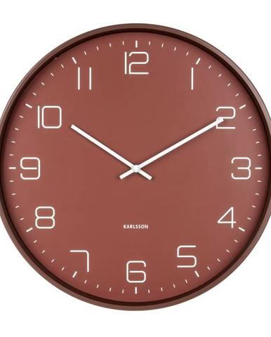 Karllson 5751RD dizajnové nástenné hodiny, pr. 40 cm