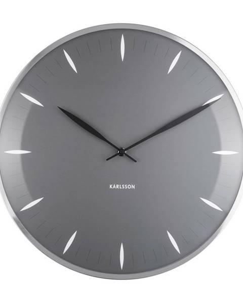 Karlsson Karlsson 5761GY dizajnové nástenné hodiny, pr. 40 cm