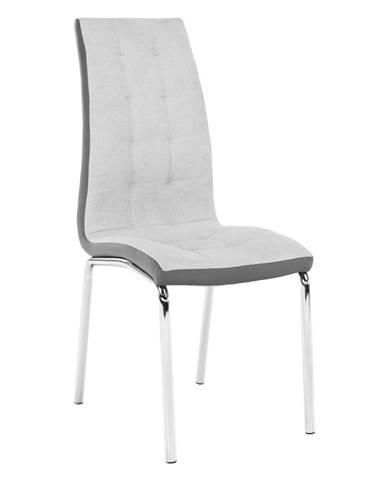 Jedálenská stolička sivá/chróm GERDA NEW rozbalený tovar