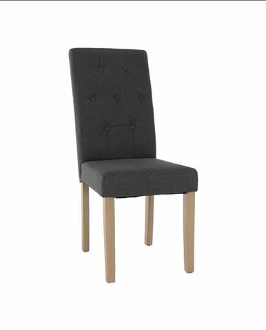 Jedálenská stolička sivá/svetlý buk JANIRA NEW rozbalený tovar