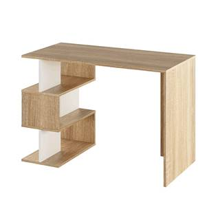 PC stôl dub sonoma/biela ABES