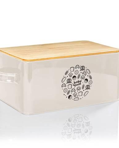 Klarstein Gistad, chlebovnica, plech, bambusový vrchnák, 44 × 16 × 21 cm (Š × V × H), obdĺžniková