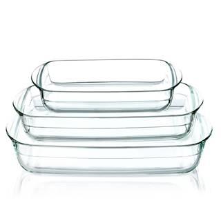 Klarstein Zapekacia misa, súprava 3 kusov, objem 3600 ml, 2600 ml, 1600 ml, sklo, vhodné do rúry