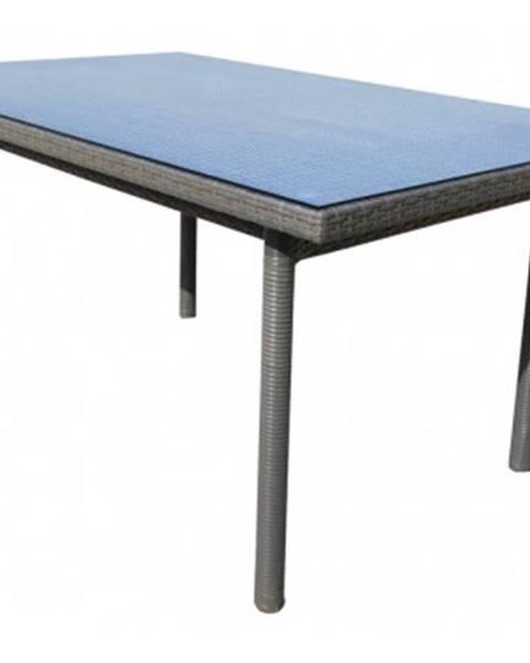 ASKO - NÁBYTOK Záhradný jedálenský stôl Java 160x100 cm, šedo-hnědý%