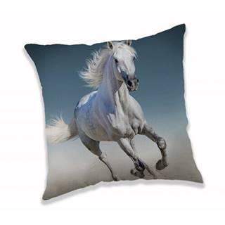 Jerry Fabrics Obliečka na vankúšik White horse, 40 x 40 cm