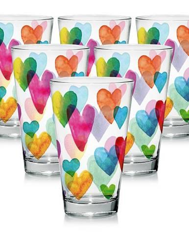 Mäser 4-dielna sada pohárov Love Rainbow, 310 ml