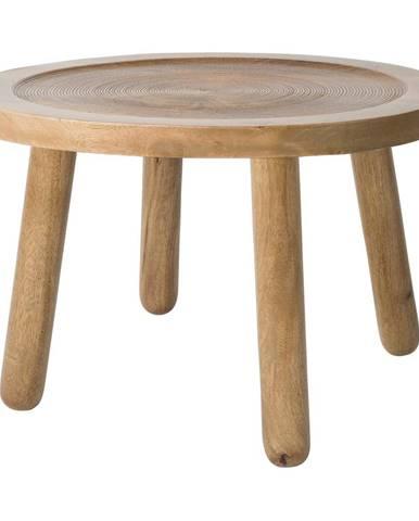 Odkladací stolík z mangového dreva Zuiver Dendron, ⌀60cm