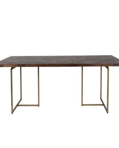 Jedálenský stôl s oceľovou konštrukciou Dutchbone Aron, 220 x 90 cm