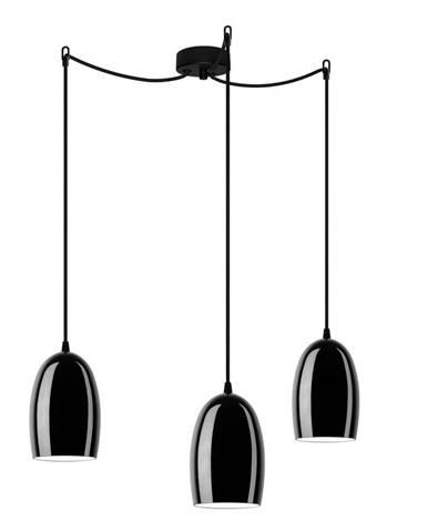 Čierne stropné svietidlo Sotto Luce UME Elementary 3S Glossy