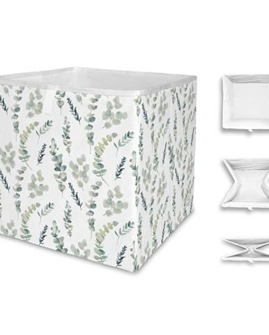 Úložný box z mikrovlákna Butter Kings Eucalyptus Branches,32l