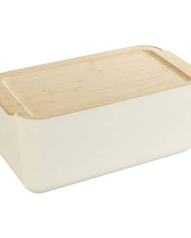 Béžový úložný box s bambusovým vekom Wenko Derry Bamboo