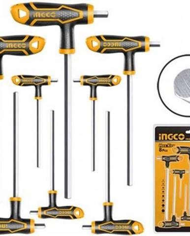 Kľuč imbus T-rúčka sada 8ks CrV 2-10mm INGCO