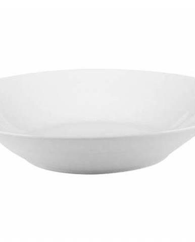 Tanier hlboký biely 23 cm