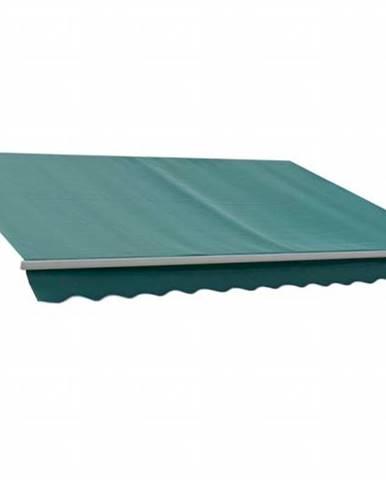Markíza 4x2,5 m zelená s hliníkový krytom