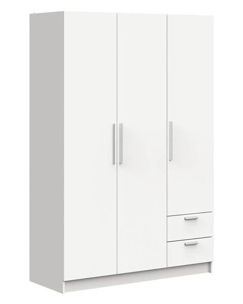 IDEA Nábytok Skriňa 3-dverová GLORY biela