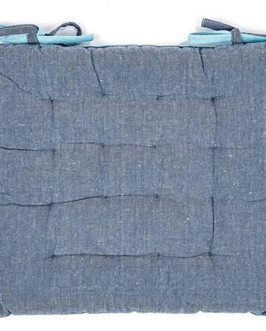 Trade Concept Prešívaný sedák Heda modrá, 40 x 40 cm
