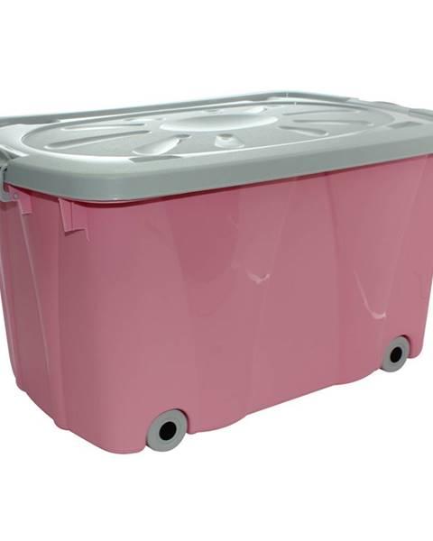 Altom Altom Úložný box pojazdný, ružová