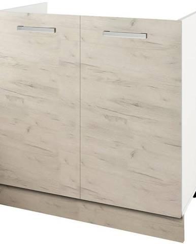 Skrinka do kuchyne Charlotte 80lc For The Kitchen Sink White/Oak White Cra