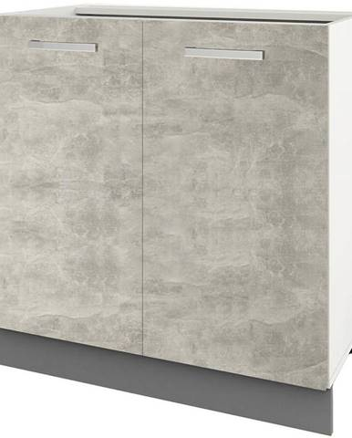 Skrinka do kuchyne Charlotte 80lc Grey Graphite/Light Atelier