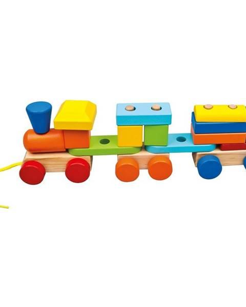 Bino Bino Farebný vláčik s dvoma vagónmi