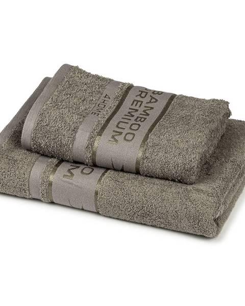 4Home 4Home Sada Bamboo Premium osuška a uterák sivá, 70 x 140 cm, 50 x 100 cm