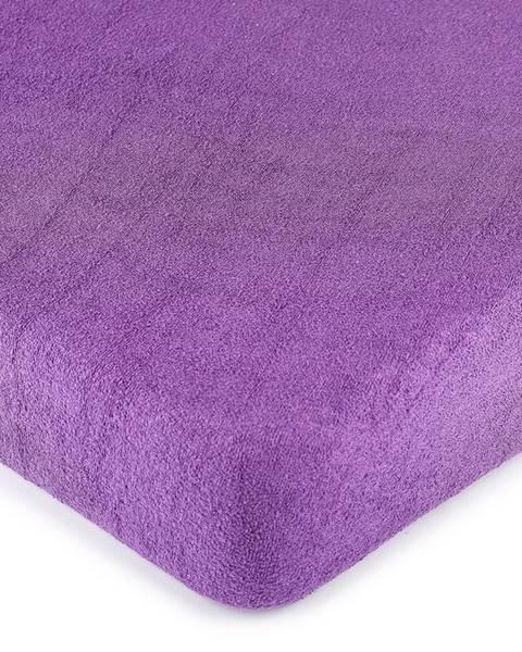 4Home 4Home froté prestieradlo fialová, 160 x 200 cm
