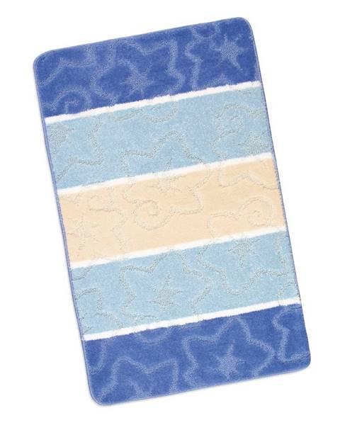 Bellatex Bellatex Kúpeľňová predložka Avangard Modrý orion, 60 x 100 cm