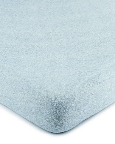 4Home froté prestieradlo svetlo modrá, 180 x 200 cm