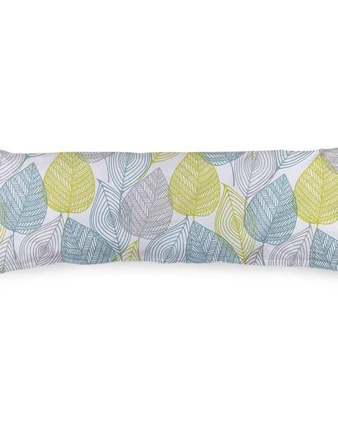 4Home 4Home Obliečka na Relaxačný vankúš Náhradný manžel Nordic Leaves, 55 x 180 cm