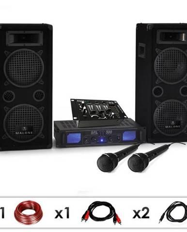 Electronic-Star DJ set DJ-25M, zosilňovač, reproduktory, mixpult, 1600 W