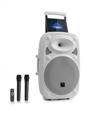 """Auna Pro Streetstar 15, mobilné PA zariadenie, 15"""" (38 cm), 1 x UHF mikrofón, max. 1000 W, biele"""
