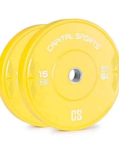 Capital Sports Capital Sports Nipton 15, kotúč, závažie, 2 x 15kg, tvrdená guma, žltý