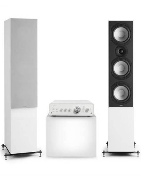 Numan Numan Drive 801, stereo sada, stereo zosilňovač, vežový reproduktor, biela/sivá